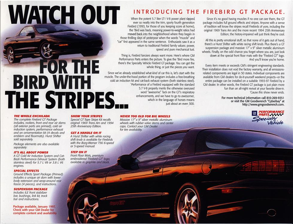 Pontiac Firebird Formula  Rear Tail Light Graphic Decal 1993-1997 Models